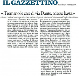 via Dante articolo Gazzettino 21 ottobre 2014