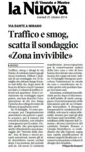 via dante articolo La Nuova Venezia 21 ottobre 2014